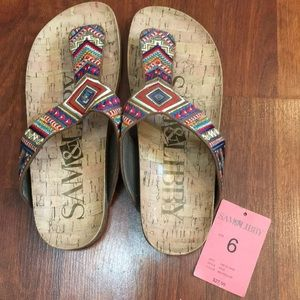 Sam and Libby patterned sandals